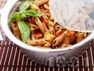 Рецепта Пълнозърнеста паста (макарони) със зеленчуци